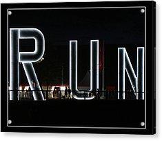 Run Acrylic Print