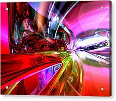 Runaway Color Abstract Acrylic Print