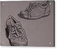 Runners Acrylic Print by Chris  Riley