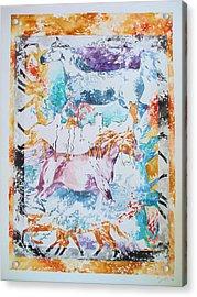 Runners Acrylic Print by Jennifer Bonset