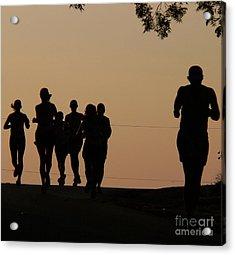 Running Acrylic Print by Angela Wright
