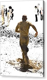 Running Away From Reality Acrylic Print by Mark Hendrickson