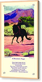 Acrylic Print featuring the painting Running Before The Storm And Prayer by Anastasia Savage Ealy