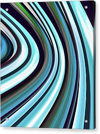Acrylic Print featuring the digital art Running Blue by Wendy J St Christopher