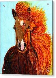 Running Free Acrylic Print by Eunice Warfel