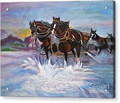 Running Horses- Beach Gallop Acrylic Print
