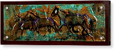 Running Horses Acrylic Print by Laurie Tietjen