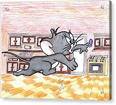 Running Little Mouse  Acrylic Print by Jose humberto Arvizo orozco