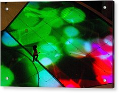 Running On Colours Acrylic Print by Iain MacVinish