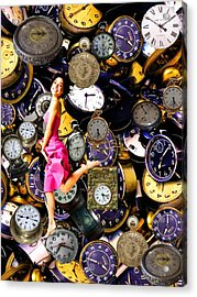 Running Out Of Time Acrylic Print by Animi Dawn