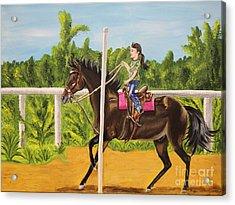 Running The Poles Acrylic Print by Sheri LaBarr