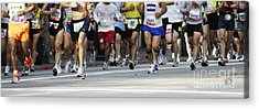 Running The Race Acrylic Print