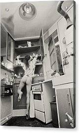 Running Through The Kitchen Acrylic Print by Philippe Taka