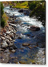 Acrylic Print featuring the photograph Running Water by Robert Pearson