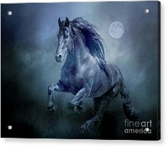 Running With The Moon Acrylic Print
