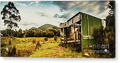 Rustic Abandoned Shed In Old Rural Countryside Acrylic Print