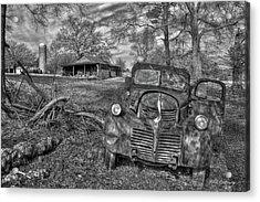 Rural America 3 Boswell Farm 1947 Dodge Dump Truck Acrylic Print by Reid Callaway