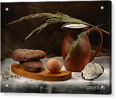 Rural Breakfast Acrylic Print by Irina No