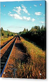 Rural Country Side Train Tracks Acrylic Print