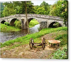 Rural France With Old Stone Arched Bridge Acrylic Print by Menega Sabidussi
