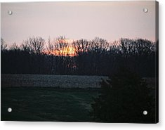 Rural Illinois Sunset Acrylic Print by C E McConnell