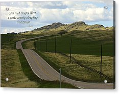 Rural Landscape With Haiku Acrylic Print