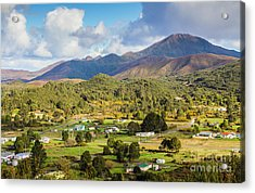 Rural Landscape With Mountains And Valley Village Acrylic Print by Jorgo Photography - Wall Art Gallery