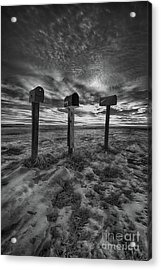 Rural Mail Acrylic Print by Ian McGregor