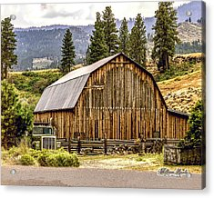 Acrylic Print featuring the photograph Rural Oregon Barn by William Havle