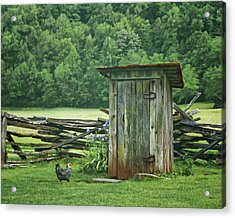 Acrylic Print featuring the photograph Rural Outhouse by Nikolyn McDonald