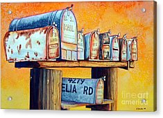 Rural Route Acrylic Print by Gail Zavala