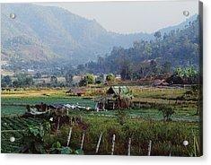 Rural Scene Near Chiang Mai, Thailand Acrylic Print