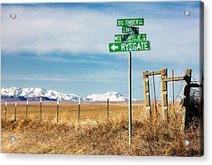 Rural Sign Post Acrylic Print by Todd Klassy