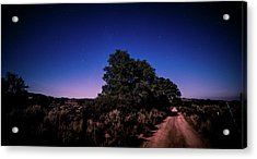 Acrylic Print featuring the photograph Rural Starlit Road by T Brian Jones
