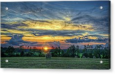 Acrylic Print featuring the photograph Rural Sunset by Lewis Mann