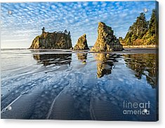 Ruby Beach Reflection Acrylic Print
