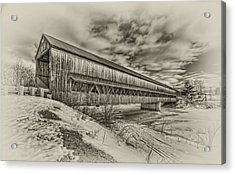 Rusagonish Covered Bridge Acrylic Print by Jason Bennett