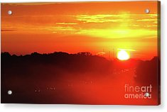Rush Hour Begins At Sunrise I 94 To Madison Wisconsin Acrylic Print
