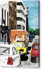 Rush Hour Acrylic Print by Cathy Jourdan