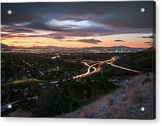 Rush Hour In Salt Lake City Acrylic Print