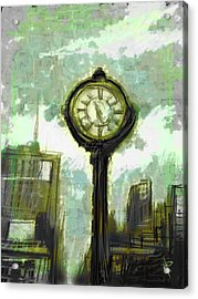 Rush Hour Nyc Acrylic Print by Russell Pierce