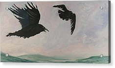 Rush Hour Ravens Acrylic Print by Amy Reisland-Speer