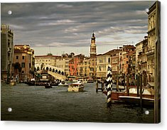 Acrylic Print featuring the photograph Rush Hour Venice by John Hix