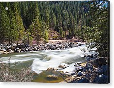 Acrylic Print featuring the photograph Rushing River by Dart Humeston