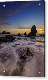 Rushing Tide On Rodeo Beach Acrylic Print by Rick Berk