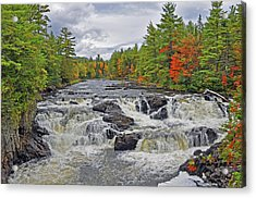 Acrylic Print featuring the photograph Rushing Towards Fall by Glenn Gordon