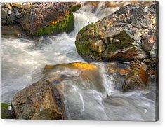 Rushing Water 1 Acrylic Print by Douglas Pulsipher