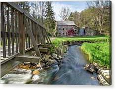 Rushing Water At The Grist Mill Acrylic Print