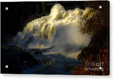 Rushing Water Acrylic Print by Sherman Perry