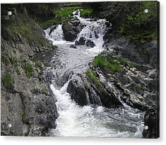 Rushing Waterfalls Acrylic Print by Allison Prior